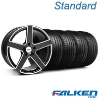 TSW Rivage Black Machined Wheel & Falken Tire Kit - 18x8 (99-04 All) - American Muscle Wheels KIT||mb1||33587||79560