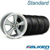 Bullitt Anthracite Wheel & Falken Tire Kit - 18x8 (99-04 All) - American Muscle Wheels KIT||mb1||28315||79560