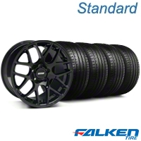 AMR Black Wheel & Falken Tire Kit - 18x8 (99-04) - American Muscle Wheels KIT||79560||mb1||33781