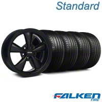 Bullitt All Black Wheel & Falken Tire Kit - 18x8 (99-04 All) - American Muscle Wheels KIT||28483||79560||mb1