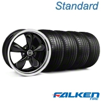 Bullitt Matte Black Wheel & Falken Tire Kit - 18x8 (99-04 All) - American Muscle Wheels KIT||mb1||79560||28318