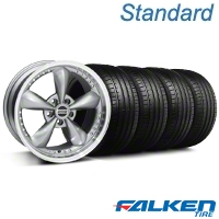 Bullitt Motorsport Anthracite Wheel & Falken Tire Kit - 18x9 (94-98 All) - American Muscle Wheels KIT||10117||mb1||79560