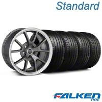 FR500 Style Anthracite Wheel & Falken Tire Kit - 18x9 (94-98 All) - American Muscle Wheels KIT||mb1||28274||79560