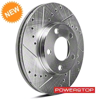 Power Stop Cross-Drilled & Slotted Front Brake Rotors (94-04 GT, V6) - Power Stop AR8141XPR