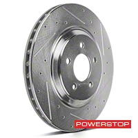 Power Stop Cross-Drilled & Slotted Front Brake Rotors (94-04 Bullitt, Mach 1, Cobra) - Power Stop AR8144/8145XPR