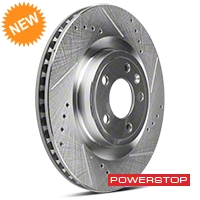Power Stop Cross-Drilled & Slotted Front Brake Rotors (11-14 GT) - Power Stop AR85144XPR