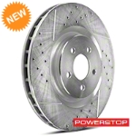 Power Stop Cross-Drilled & Slotted Front Brake Rotors (11-14 GT Brembo, 12-13 BOSS, 07-12 GT500) - Power Stop AR8184XPR