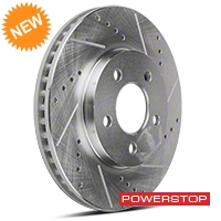 Power Stop Cross-Drilled & Slotted Front Brake Rotors (05-10 V6) - Power Stop AR8173XPR