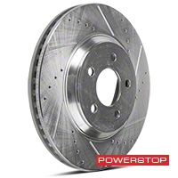Power Stop Cross-Drilled & Slotted Front Brake Rotors (05-10 GT, 11-14 V6) - Power Stop AR8171XPR