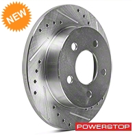Power Stop Cross-Drilled & Slotted Rear Brake Rotors (94-04 GT, V6) - Power Stop AR8142XPR