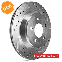 Power Stop Cross-Drilled & Slotted Rear Brake Rotors (94-04 Bullitt, Mach 1, Cobra) - Power Stop AR8146XPR