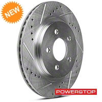 Power Stop Cross-Drilled & Slotted Rear Brake Rotors (05-14 All, Except 13-14 GT500) - Power Stop AR8174XPR