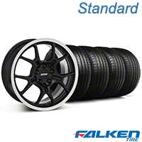 GT4 Black Wheel & Falken Tire Kit - 18x9 (94-98 All) - American Muscle Wheels KIT||79560||28132||mb1