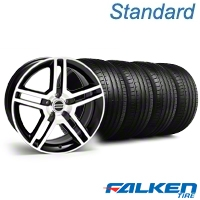 2010 GT500 Black Machined Wheel & Falken Tire Kit - 18x9 (94-98 All) - American Muscle Wheels KIT||79560||mb1||28221