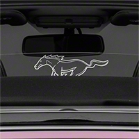 Laser Engraved Wind Deflector - Running Pony (11-14 Convertible) - AM Interior v1-opt2
