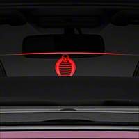 Laser Engraved Wind Deflector w/ Illumination - Retro Cobra (11-14 Coupe/Convertible) - AM Interior v1-opt7-red||v1-opt7-white||v1-opt7-blue||v1-opt7-green||v1-opt7-orange||v2-opt7-red||v2-opt7-white||v2-opt7-blue||v2-opt7-green||v2-opt7-orange