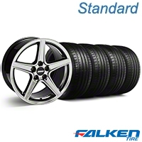 Saleen Style Black Chrome Wheel & Falken Tire Kit - 18x9 (94-98 All) - American Muscle Wheels KIT||10105||79560||mb1