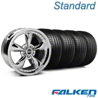 Bullitt Motorsport Chrome Wheel & Falken Tire Kit - 18x9 (94-98 All) - American Muscle Wheels KIT||79560||10113||mb1