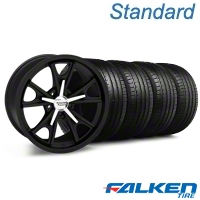 Daytona Matte Black Wheel & Falken Tire Kit - 18x9 (94-98 All) - American Muscle Wheels KIT||mb1||27216||79560