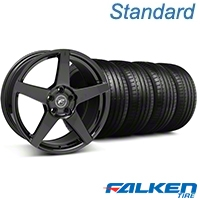 Forgestar CF5 Monoblock Piano Black Wheel & Falken Tire Kit - 18x9 (94-98) - Forgestar KIT||mb1||79560||29832