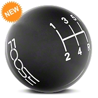 MMD Retro Style 5-Speed Shift Knob w/FOOSE logo - Black (05-10 All) - MMD 384343