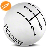 MMD Retro Style 5-Speed Shift Knob w/FOOSE logo - Polished (05-10 All) - MMD 384345