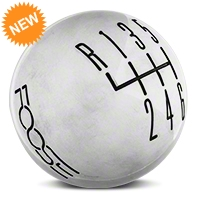 MMD Retro Style 6 -Speed Shift Knob w/FOOSE logo - Polished (11-14 GT, V6; 11-12 GT500) - MMD 384348