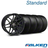 Forgestar F14 Monoblock Piano Black Wheel & Falken Tire Kit - 18x9 (94-98) - American Muscle Wheels KIT||29834||79560||mb1