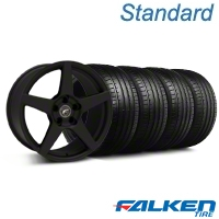 Forgestar CF5 Monoblock Textured Black Wheel & Falken Tire Kit - 18x9 (94-98 All) - Forgestar KIT||79560||29836||mb1