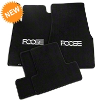 Black Floor Mats - Foose Logo (13-14 All) - AM Floor Mats FF118101