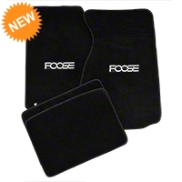 Black Floor Mats - Foose Logo (99-04 All) - AM Floor Mats FF121101