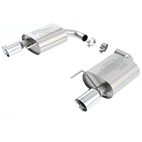 Ford Racing by Borla Touring Axle-Back Exhaust - Chrome Tip (2015 EcoBoost) - Ford Racing M-5230-M4TC
