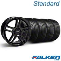 2010 GT500 Black Wheel & Falken Tire Kit - 18x9 (94-98 All) - American Muscle Wheels KIT||79560||28219||mb1