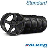S Style Black Wheel & Falken Tire Kit - 18x9 (94-98 All) - American Muscle Wheels KIT||mb1||79560||28252