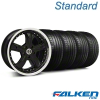 Shelby Razor Black Wheel & Falken Tire Kit - 18x9 (94-98 All) - American Muscle Wheels KIT||mb1||99226||79560