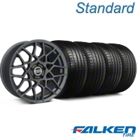 2013 GT500 Style Charcoal Wheel & Falken Tire Kit - 18x9 (94-98 All) - American Muscle Wheels KIT||99368||mb1||79560
