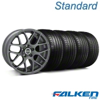 AMR Charcoal Wheel & Falken Tire Kit - 18x9 (94-98 All) - American Muscle Wheels KIT||79560||mb1||28330