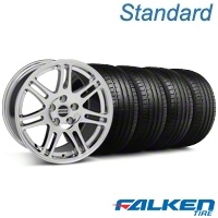 10th Anniversary Cobra Style Chrome Wheel & Falken Tire Kit - 18x9 (94-98 All) - American Muscle Wheels KIT||79560||mb1||28346