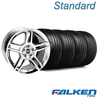 2010 GT500 Style Chrome Wheel & Falken Tire Kit - 18x9 (94-98 All) - American Muscle Wheels KIT||79560||28220||mb1