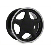 Black w/ Machined Lip Pony Style Wheel - 5 Lug - 17x9 (87-93; Excludes 93 Cobra) - American Muscle Wheels 384578