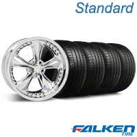 Foose Nitrous Chrome Wheel & Falken Tire Kit - 18x9 (94-98 All) - American Muscle Wheels KIT||79560||32815||mb1