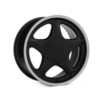 Black w/ Machined Lip Pony Style Wheel - 17x9 (87-93; Excludes 93 Cobra) - American Muscle Wheels 384583