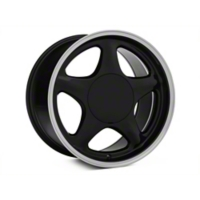 Black w/ Machined Lip Pony Style Wheel - 17x10 (87-93; Excludes 93 Cobra) - American Muscle Wheels 384586
