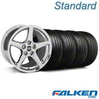 S Style Chrome Wheel & Falken Tire Kit - 18x9 (94-98 All) - American Muscle Wheels KIT||mb1||79560||28251