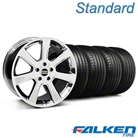 S197 Saleen Style Chrome Wheel & Falken Tire Kit - 18x9 (94-98 All) - American Muscle Wheels KIT||28355||79560||mb1