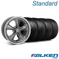 Foose Nitrous Grey Wheel & Falken Tire Kit - 18x9 (94-98 All) - American Muscle Wheels KIT||79560||mb1||32816