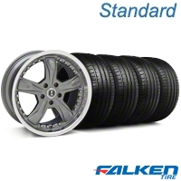 Shelby Razor Gunmetal Wheel & Falken Tire Kit - 18x9 (94-98 All) - Shelby KIT||27221||mb1||79560