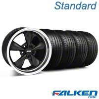 Bullitt Deep Dish Matte Black Wheel & Falken Tire Kit - 18x9 (94-98 All) - American Muscle Wheels KIT||28303||79560||mb1