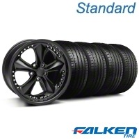 Foose Nitrous Matte Black Wheel & Falken Tire Kit - 18x9 (94-98 All) - Foose KIT||mb1||79560||32828