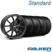 FR500 Matte Black Wheel & Falken Tire Kit - 18x9 (94-98 All) - American Muscle Wheels KIT||79560||mb1||28473